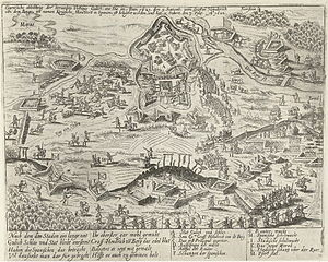 Siege of Jülich (1621–22) - Siege and taking of Jülich, 1621-1622, engraved by the workshop of Frans Hogenberg, 1622-1624