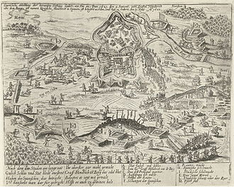Siege of Jülich (1621–22) - Siege and taking of Jülich, 1621-1622, engraved by the workshop of Frans Hogenberg, 1622-1624
