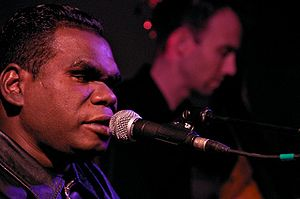 Indigenous music of Australia - Geoffrey Gurrumul Yunupingu was a contemporary Indigenous performer who sings in the Yolŋu Matha languages.