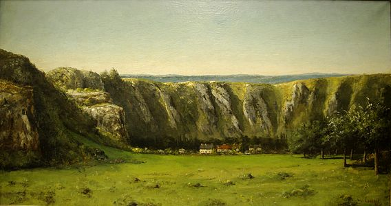 Gustave Courbet-The rock of Ten Hours-1855.jpg