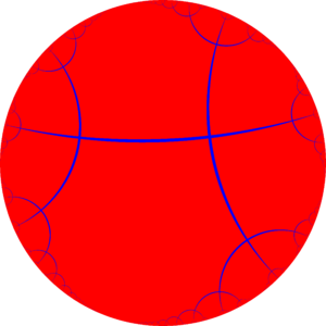 Order-4 apeirogonal tiling - Image: H2 tiling 24i 1