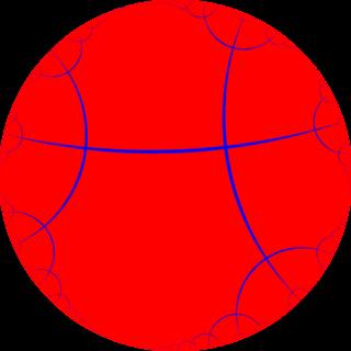Order-4 apeirogonal tiling