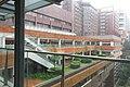 HKU MTR Station 香港大學站 Lift tower lobby footbridge view Pokfulam Road Nov 2017 IX1 03.jpg