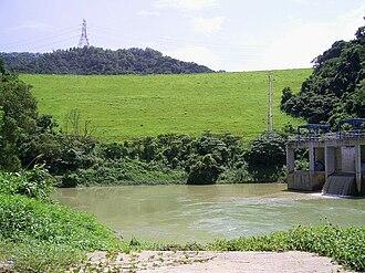 Lower Shing Mun Reservoir - Main dam and supply basin of Lower Shing Mun Reservoir