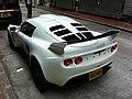 HK Sheung Wan Hillier Street carpark white race car Lotus tail side Nov-2012.JPG