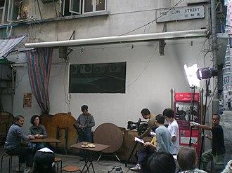 Dr Sun Yat-sen Historical Trail - Image: HK Sheung Wan Mee Lun Lane Drama 2