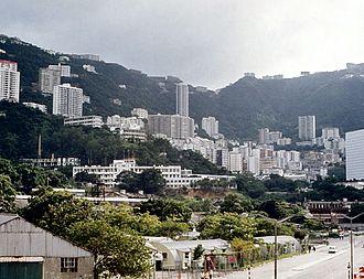 Victoria Barracks, Hong Kong - Victoria Barracks in 1971
