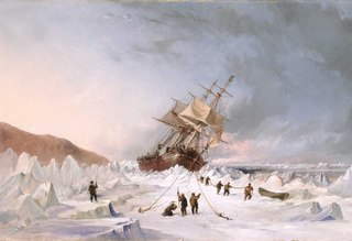 HMS 'Assistance' in the ice