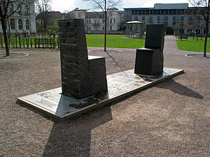 West–östlicher Divan - Hafez-Goethe monument in Weimar, Germany