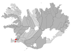 Location of the Municipality of Hafnarfjörður, Iceland