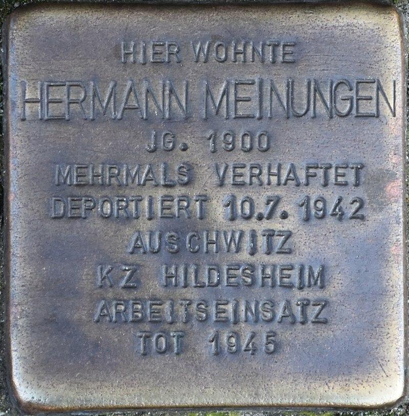 Hagenow Stolperstein Lange Straße 108 Meinungen, Hermann