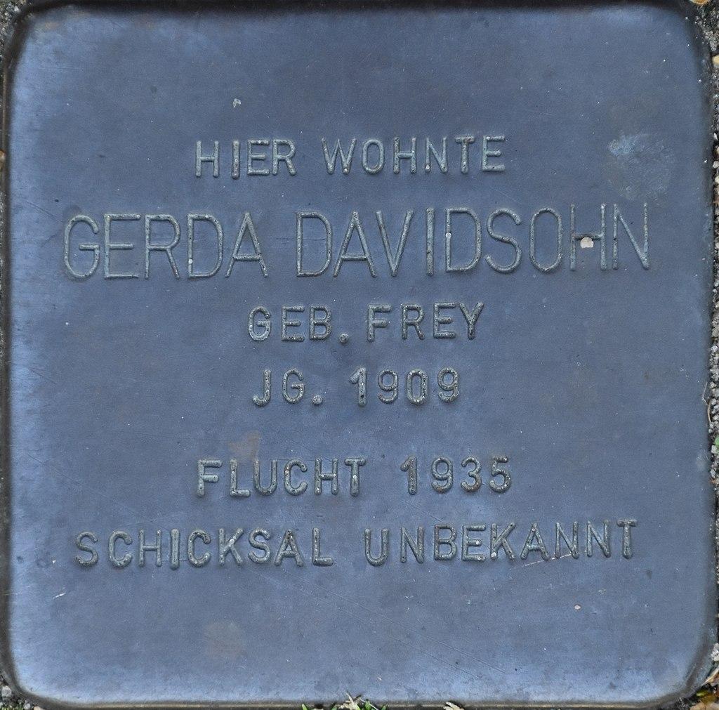 Hagenow Stolperstein Parkstraße 33 Davidsohn, Gerda