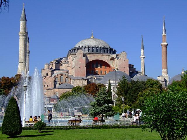 The impressive Hagia Sophia in Istanbul.