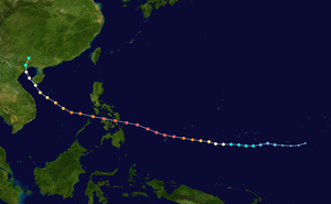 Meteorological history of Typhoon Haiyan - Image: Haiyan 2013 track