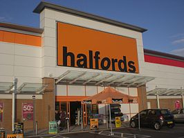 Een filiaal van Halfords in Portsmouth