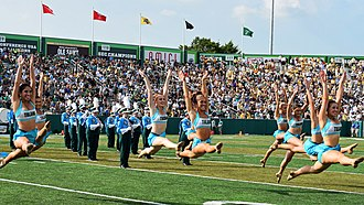 Tulane Green Wave football - TUMB and Shockwave perform at halftime in Yulman Stadium