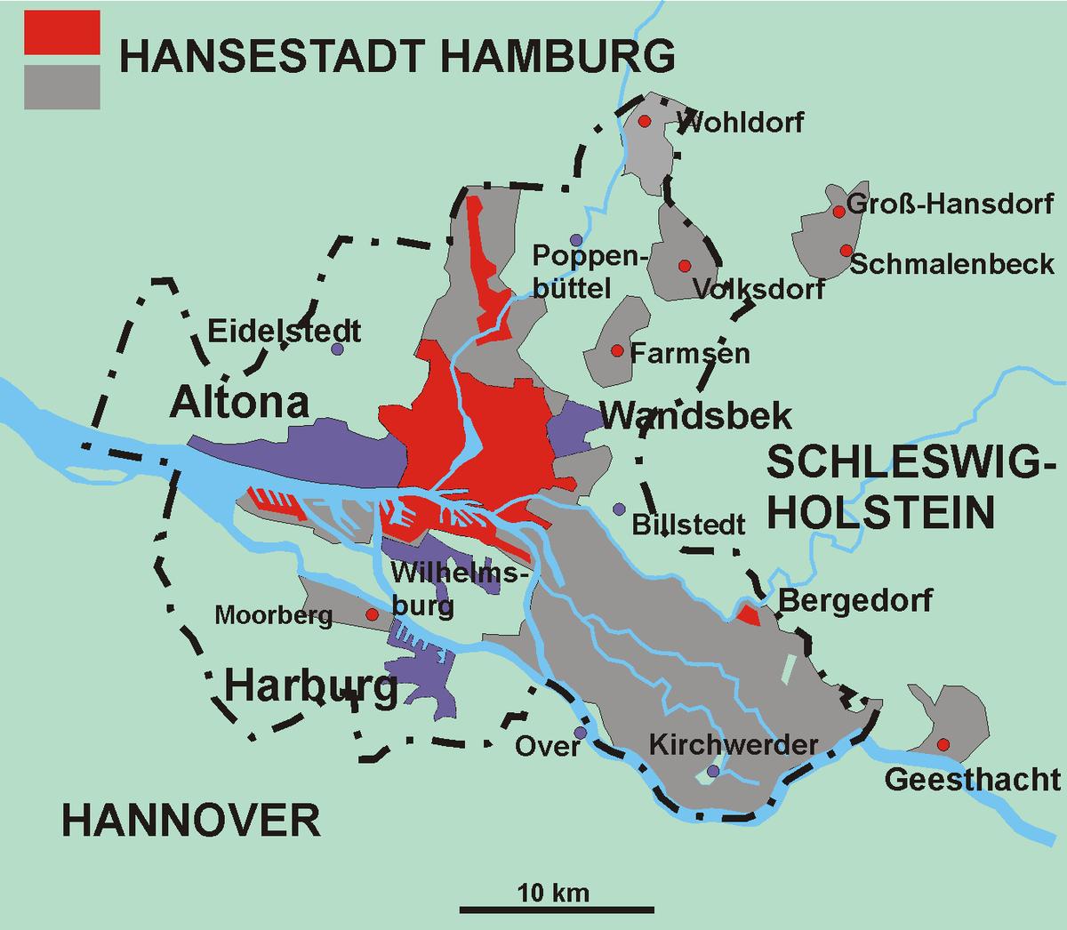 Boroughs And Quarters Of Hamburg Wikipedia