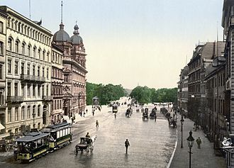 Stephansplatz, Hamburg - Stephansplatz around 1900
