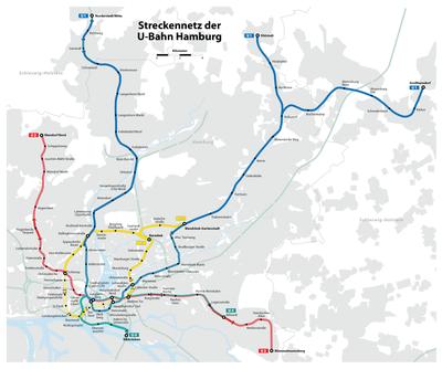 Hamburger Hochbahn - Linienplan (mit Tunnels).png