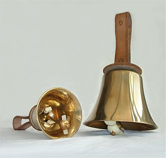 Handbell - Two English handbells, manufactured by Whitechapel Bell Foundry.