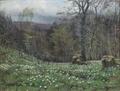 Hans Agersnap - Skovlysning med anemoner.png