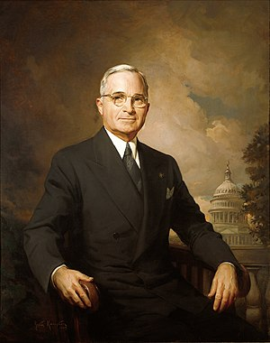 1945 in the United States - April 12: Harry S. Truman becomes President upon the death of Franklin D. Roosevelt