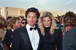 Harry Hamlin - Hamlin with then-wife, Laura Johnson at the 1987 Emmy Awards.