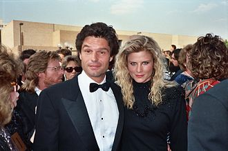 Harry Hamlin - Hamlin with then-wife, Laura Johnson at the 1987 Emmy Awards.