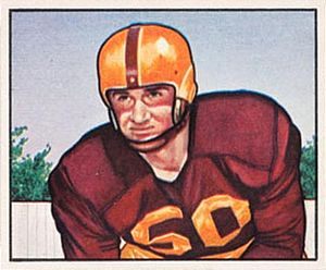 Harry Ulinski - Ulinski on a 1950 Bowman football card