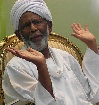 Hassan Al-Turabi - Turabi at his private home in Shambat, Khartoum, one year before his death
