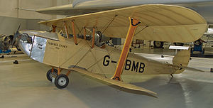 Lympne light aircraft trials - The 1926 winner, Hawker Cygnet G-EBMB, in 2008