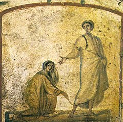 Jésus-Christ guérissant une femme hémorragique