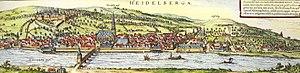 Gaisberg (Heidelberg) - Image: Heidelberg Braun Hogenberg