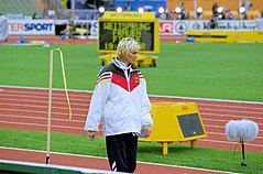 Heike Drechsler bei den Europameisterschaften 2002