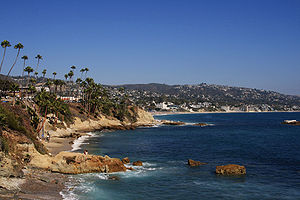 Overlooking Heisler Park in Laguna Beach, Cali...