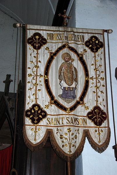 Bannière dans l'église d'Helléan (Morbihan)