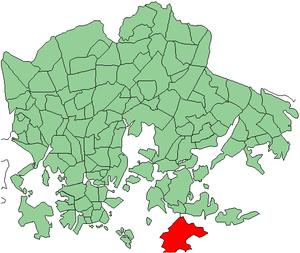 Santahamina - Location of Santahamina within Helsinki