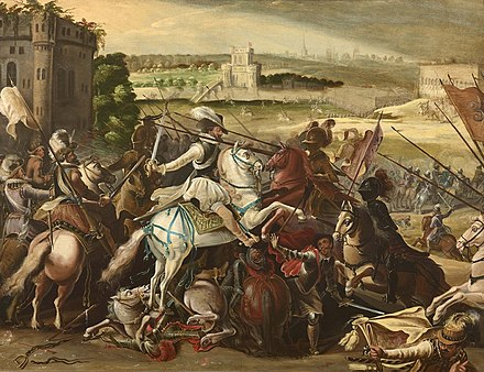 Henry IV at the Battle of Arques Henri IV a la bataille d'Arques 21 septembre 1589.jpeg