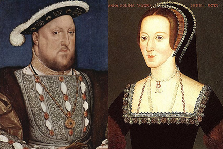 Elizabeth's parents, Henry VIII and Anne Boleyn. Anne was executed within three years of Elizabeth's birth. Henry VIII and Anne Boleyn.png
