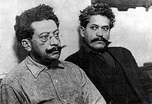 Ricardo Flores Magón (left) and his brother En...