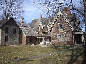 The Hermitage (Ho-Ho-Kus, New Jersey) - Image: Hermitage rear