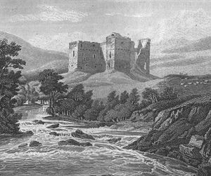 William II de Soules - Hermitage Castle (in 1814), caput of the small provincial lordship of Liddesdale.