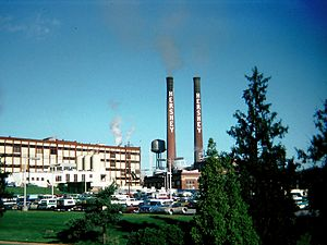 The Hershey Company - The original Hershey's chocolate factory, 1976