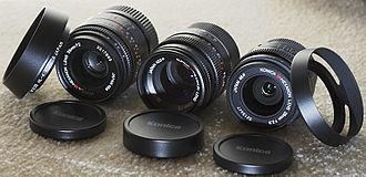 Konica Hexar RF - Konica 28mm, 35mm and 50mm M-Hexanon lenses