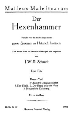 Bildergebnis für hexenhammer