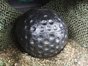 Chesil Beach - Highball bouncing bomb prototype, now on display at Abbotsbury Swannery