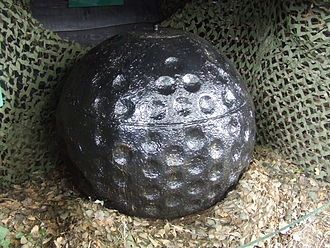 Bouncing bomb - Highball bouncing bomb prototype, now on display at Abbotsbury Swannery