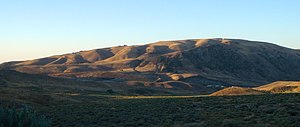 Downhill creep - Image: Hillslopes near Lebec, CA
