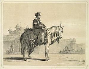 Raja Hindu Rao - Raja Hindu Rao, Lithograph by Emily Eden in 1844