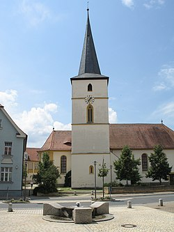 Hirschaid Kirchplatz 01 Kath. Pfarrkirche St. Veit 002.jpg